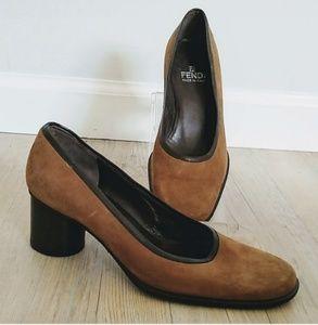 Fendi heel brown shoe